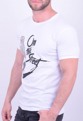 T-Shirt casual λευκό