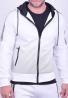 Ζακέτα με κουκούλα λευκή