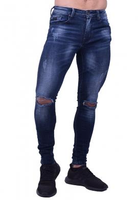 Παντελόνι τζιν με σκισίματα στα γόνατα