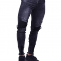 Παντελόνι Τζιν Biker Μαύρο
