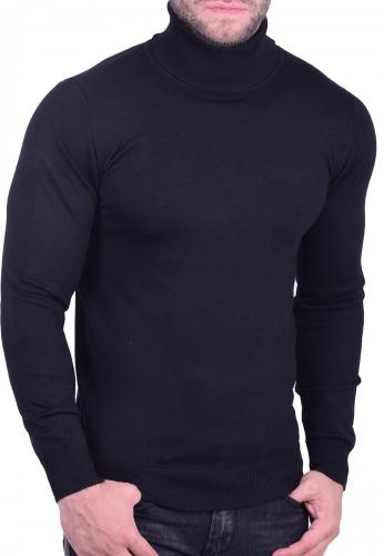 Μπλούζα ζιβάγκο πλεκτή μαύρη
