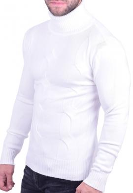 Μπλούζα ζιβάγκο πλεκτή λευκή