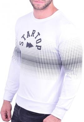 Ανδρικό φούτερ κολεγιακό λευκό