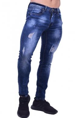 Παντελόνι τζιν με σκισίματα και φθορές