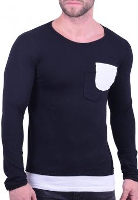 New Wave Μπλούζα Με Τσεπάκι Μαύρη