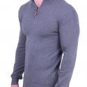 Μπλούζα ζιβάγκο πλεκτή γκρι
