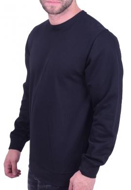 Ανδρικό φούτερ κολεγιακό μαύρο