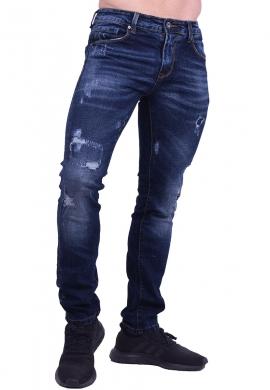 Παντελόνι τζιν με ξεβάμματα και φθορές