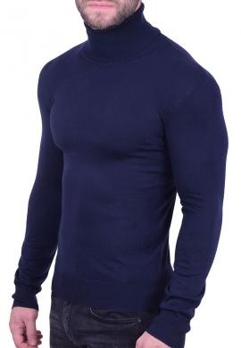 Μπλούζα ζιβάγκο πλεκτή μπλε