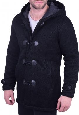 Ανδρικό παλτό montgomery μαύρο