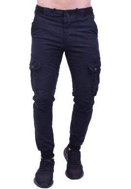 Παντελόνι υφασμάτινο cargo μπλε