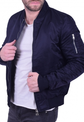 Bomber jacket μπλε