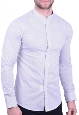Πουκάμισο mao collar λευκό