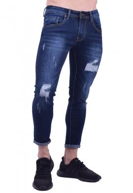 Παντελόνι τζιν με σκισίματα slim