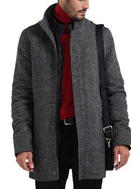 Biston παλτό 42-201-065 γκρι