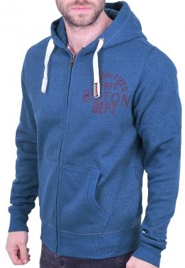 Biston ζακέτα με κουκούλα 40-206-009 μπλε