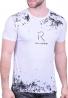 T-Shirt Με Στάμπα Λευκό