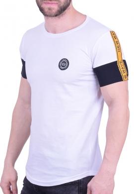 New Wave t-shirt με ρίγα λευκό