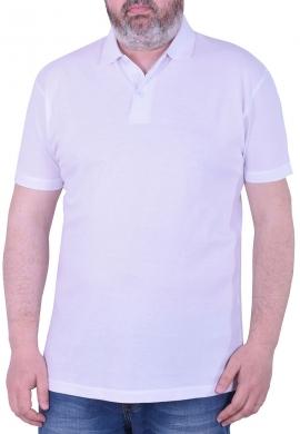 Πόλο Μπλούζα πικέ μονόχρωμη λευκή