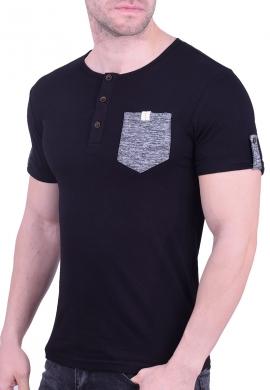 T-Shirt με τσεπάκι μαύρο