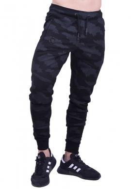 Biston παντελόνι φούτερ 40-241-005 μαύρο camo