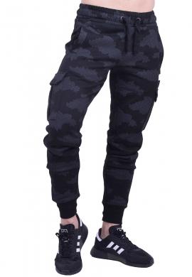 Biston παντελόνι φούτερ 40-241-006 μαύρο camo