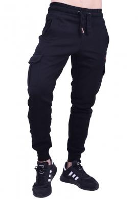 Biston παντελόνι φούτερ 40-241-006 μαύρο