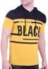 T-Shirt με κουκούλα κίτρινο