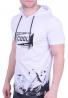T-Shirt Με Κουκούλα Λευκό