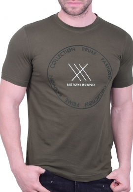 Biston t-shirt 43-206-004 χακί