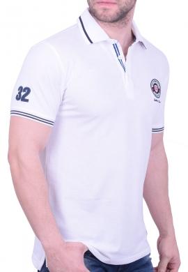 Biston πόλο μπλούζα 43-206-028 λευκή