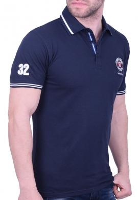 Biston πόλο μπλούζα 43-206-028 μπλε