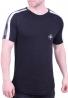 T-Shirt με ρίγα στον ώμο clever μαύρο