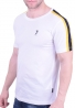 Splendid t-shirt 43-206-024 με ρίγα στον ώμο