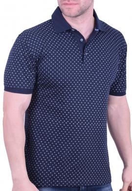 Biston πόλο μπλούζα 43-206-031 μπλε
