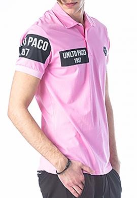Paco & co πόλο βαμβακερό ροζ