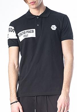 Paco & co πόλο βαμβακερό μαύρο