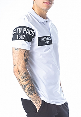 Paco & co πόλο βαμβακερό λευκό