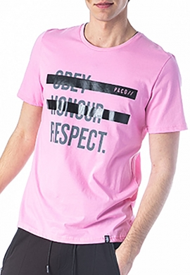 Paco & co t-shirt με τύπωμα ροζ