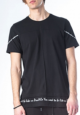 Paco & co t-shirt casual μαύρο