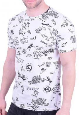 T-shirt με σχέδια λευκό