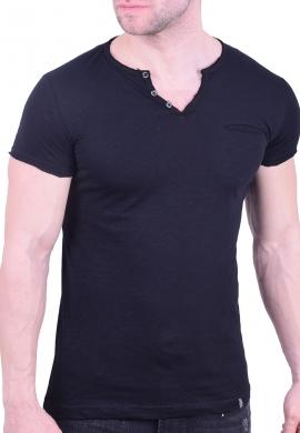 Paco & co t-Shirt με V μαύρο