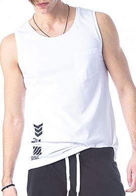 Paco & co αμάνικο T-shirt λευκό