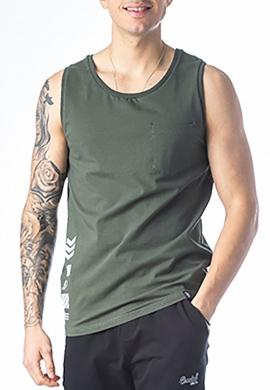 Paco & co αμάνικο T-shirt χακί