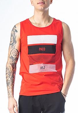 Paco & co αμάνικο T-shirt κόκκινο