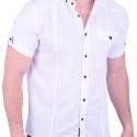 Πουκάμισο Κοντομάνικο Λινό λευκό