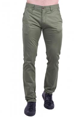 Παντελόνι υφασμάτινο chino τσέπη  χακί