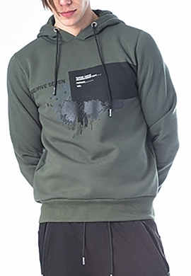 Paco & co Ανδρικό φούτερ 202591 με κουκούλα