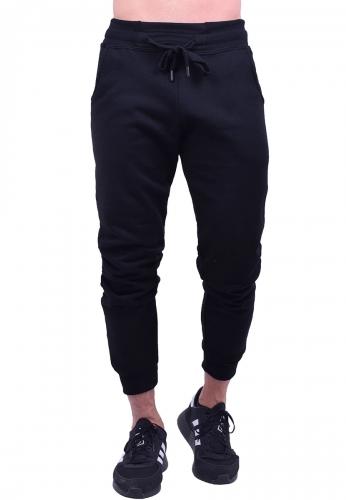 New wave Παντελόνι φόρμας μονόχρωμο Μαύρο
