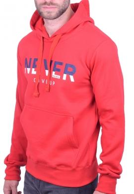 New Wave φούτερ 202-03 με κουκούλα κόκκινο
